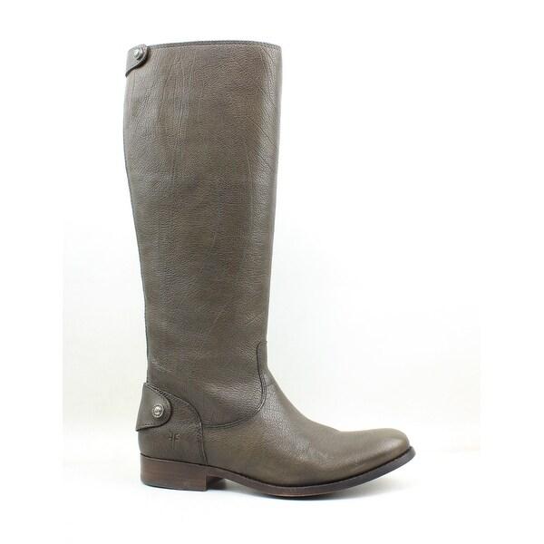 5ac6861fdd81 Frye Womens Melissa Button Back Zip Knee-High Brown Riding Boots Size 6.5