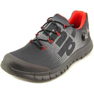 Reebok ZPump Fusion Men Round Toe Canvas Black Running Shoe
