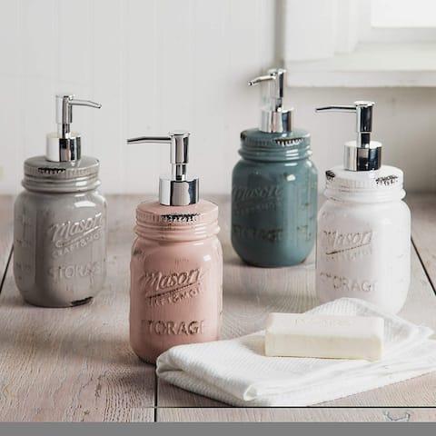 Palais Essentials Refillable Liquid Hand Soap Dispenser for Bathroom, Premium Kitchen Soap and Lotion Dispenser