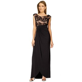 Connected Apparel Plus Size Soutache Faux Wrap Evening Gown Dress - 22W