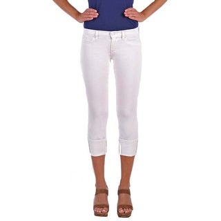 Henry and Belle Women's Cuffed Crop Heavyweight White Optic Size 26 Jeans
