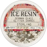 Ice Resin Glass Glitter Shards-Sterling