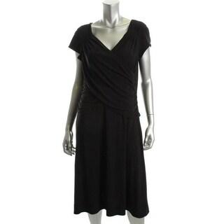 B-Slim Womens Matte Jersey A-Line Wear to Work Dress - S