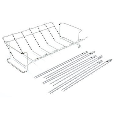Broil King 64233 V Rack and Skewer Kit, Stainless Steel