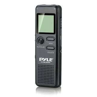 Pyle Audio PYLPVR300B Pyle PVR300 Rechargeable Digital Voice Recorder with USB and PC Interface