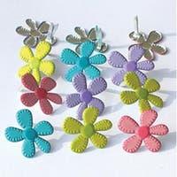 Stitched Flowers - Bright - Eyelet Outlet Shape Brads 12/Pkg