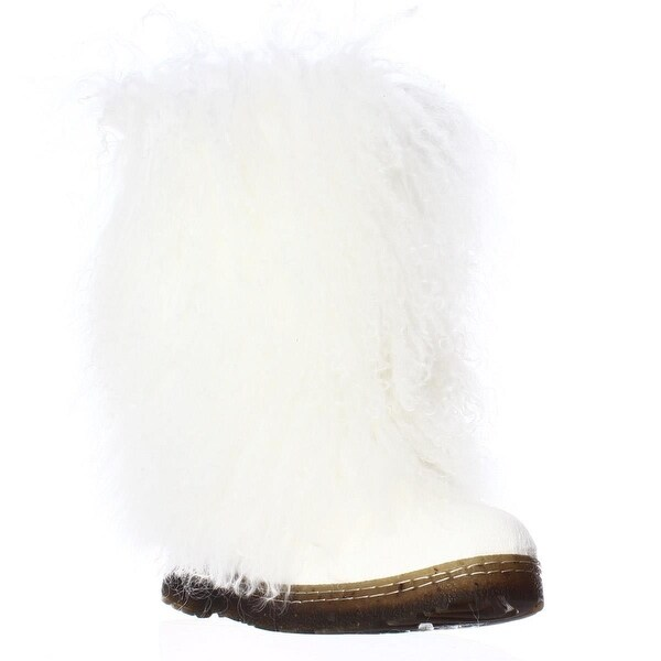 Bearpaw Boetis II Fur Calf Winter Boots, White - 8 us / 39 eu