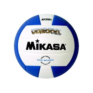 Mikasa VQ 2000 NFHS Volleyball, Royal Blue/White