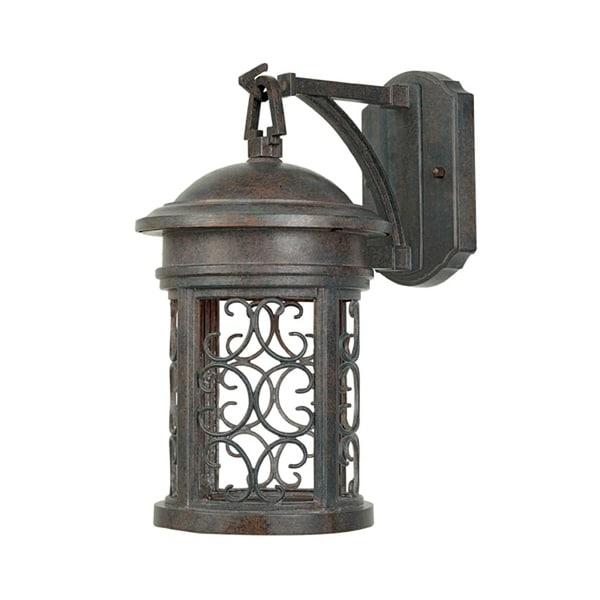 "Designers Fountain 31111-MP 1-Light 7"" Wall Lantern from the Dark Sky Barrington Collection - mediterranean patina - n/a"