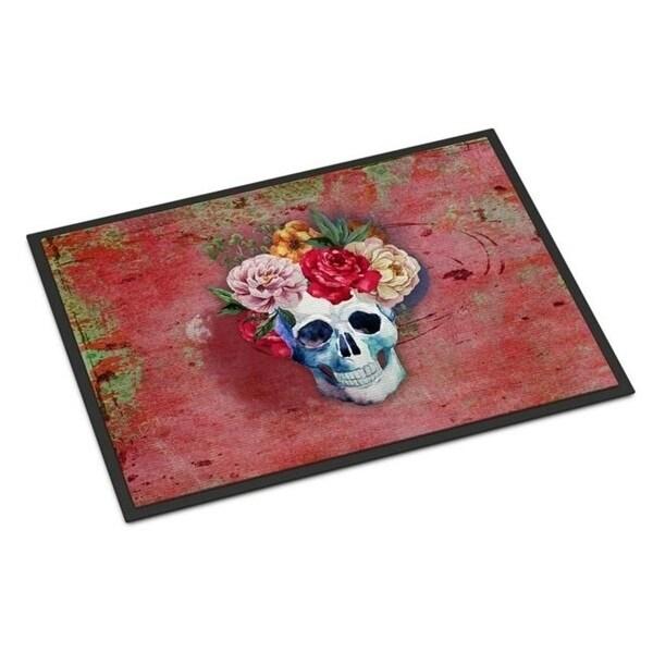 Carolines Treasures BB5130MAT Day of the Dead Red Flowers Skull Indoor or Outdoor Mat 18 x 27 in.