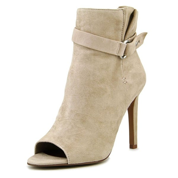 BCBGeneration Cassia Women Peep-Toe Suede Ankle Boot