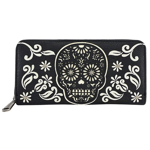 Loungefly Black And White Sugar Skull Wallet - One Size Fits most
