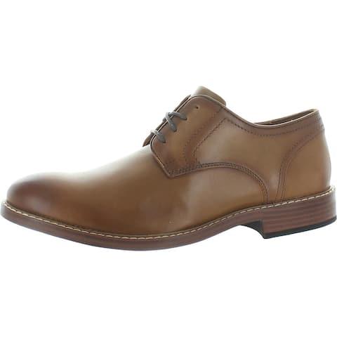 Rockport Mens Kenton Oxfords Leather Shock Absorbing - Tan - 10 Medium (D)