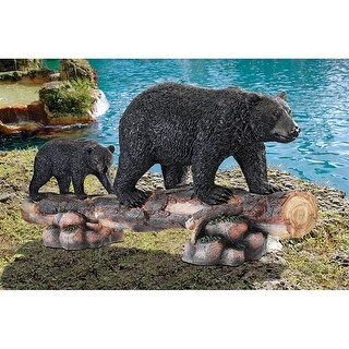 Design Toscano Mother Black Bear and Cub Grand Scale Animal Sculpture