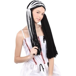 Black and White Rag Doll Halloween Wig Costume Accessory- One Size Fits Most - One Size