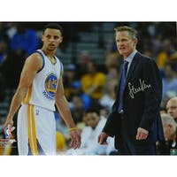 Steve Kerr Golden State Warriors With Stephen Curry 16x20 Photo