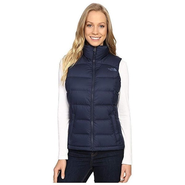 Shop The North Face Women s Nuptse 2 Vest Cosmic Blue Sz L - Free Shipping  Today - Overstock.com - 27069040 7d725acc680b