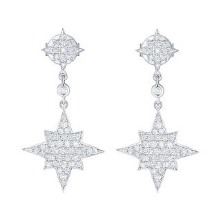 Prism Jewel 0.56Ct Round G-H/I1 Natural Diamond Drop Dangle Earring