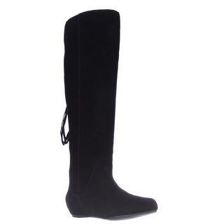 STEVEN by Steve Madden Laurren Hidden Wedge Tassel Boots - Black Suede