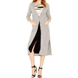 Kensie Womens Cardigan Top Open Front Long Sleeves - l