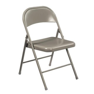 National Public Seating 902 Gray Steel Commercialine Folding Chairs