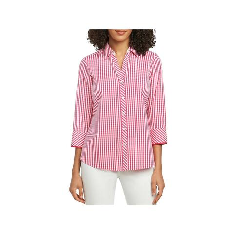 Foxcroft Womens Mary Button-Down Top Poplin Heritage
