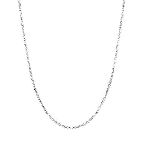 """14K White Gold Cable Chain Necklace 1.1mm, 16-20"""""""