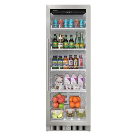 "EdgeStar VBM101 22"" Wide 10.1 Cu. Ft. Commercial Beverage Merchandiser - Stainless Steel"