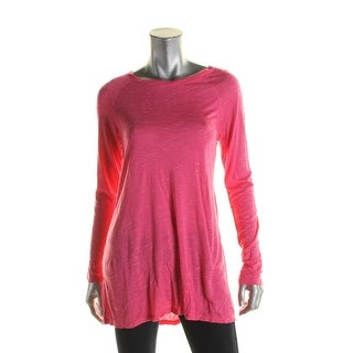 Calvin Klein Performance Womens Pullover Top Space Dye Raglan Sleeves