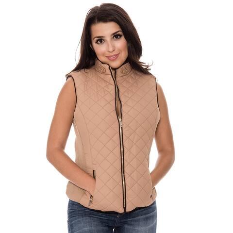 True Rock Women's Quilted Full Zip Vest