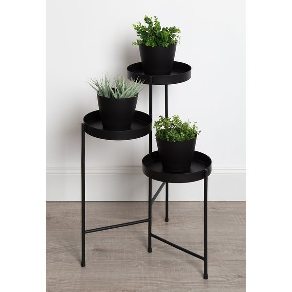 Kate and Laurel Finn Metal Tri-Level Plant Stand. Opens flyout.