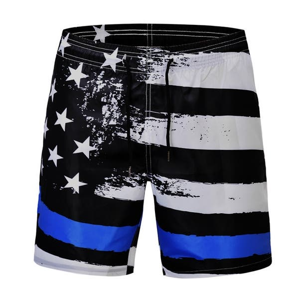 OPTIMIS Casual Mens Swim Trunks Quick Dry Printed Beach Shorts Summer Boardshorts with Mesh Lining