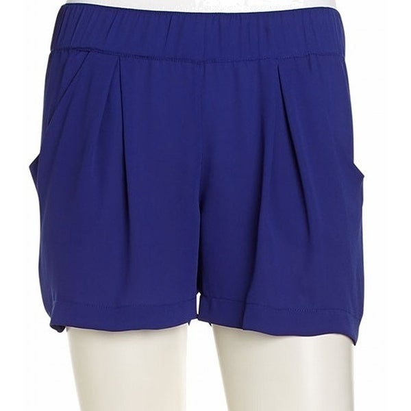 BCBGMaxazria NEW Blue Women's Size Small S Gathered Solid Dress Shorts