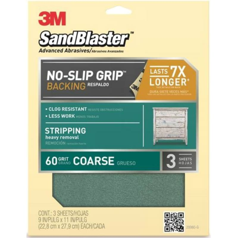"6 Pk 3M All-Purpose Sandpaper 9/"" X 11/"" Assorted Grit 5 Sheets//Pack 9005"