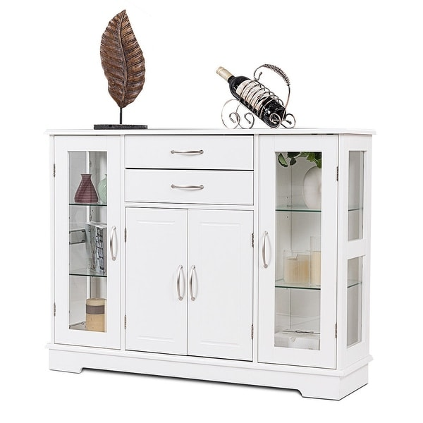 Dining Room Consoles: Shop Costway Buffet Storage Cabinet Console Cupboard W