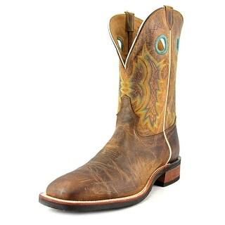 Tony Lama Suntan Century Square Toe Leather Western Boot