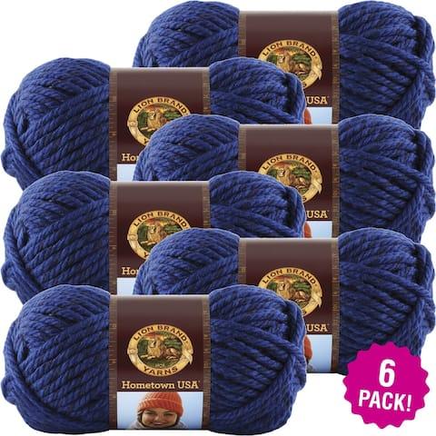 Lion Brand Hometown Usa Yarn 6/Pk-Forth Worth Blue