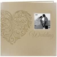 "Heart - Embossed Wedding Post Bound Album 12""X12"""