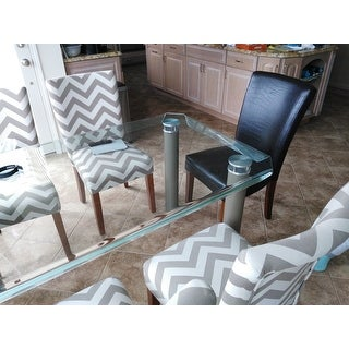 Parson Chevron Dining Chair (Set of 2)