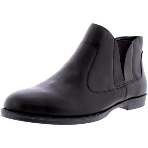 Bella Vita Womens Rory Ankle Boots Leather Casual - Black - 9.5 Narrow (AA,N)