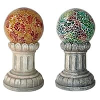Forever Gifts S120700003 Solar Glass Mosaic Ball - Pack Of 4