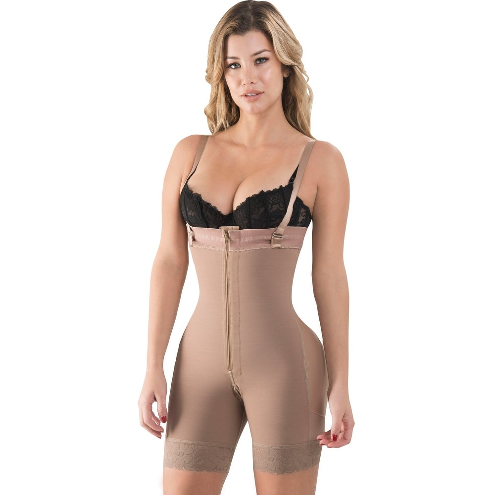 Butt Lifter Mid Thigh Strapless Post Surgery Partum Women Girdle Fajas Reductoras Moldeadoras Colombianas 615C