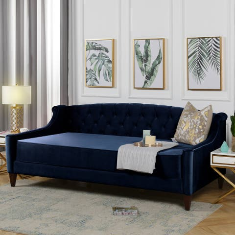 Silver Orchid Heston Upholstered Tufted Sofa Bed