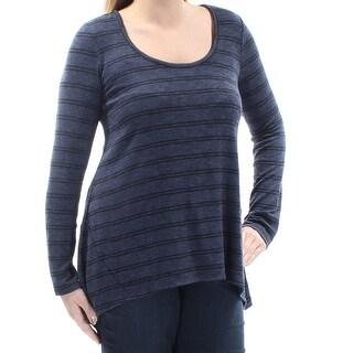 HIPPIE ROSE $19 Womens New 1052 Navy Black Striped Sweater L Juniors B+B