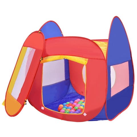 Portable Kid Play House Toy Tent with 100 Balls - Multi