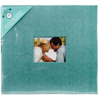 """Colorbok Post Bound Glitter Album 12""""X12""""-Teal - TEAL"""