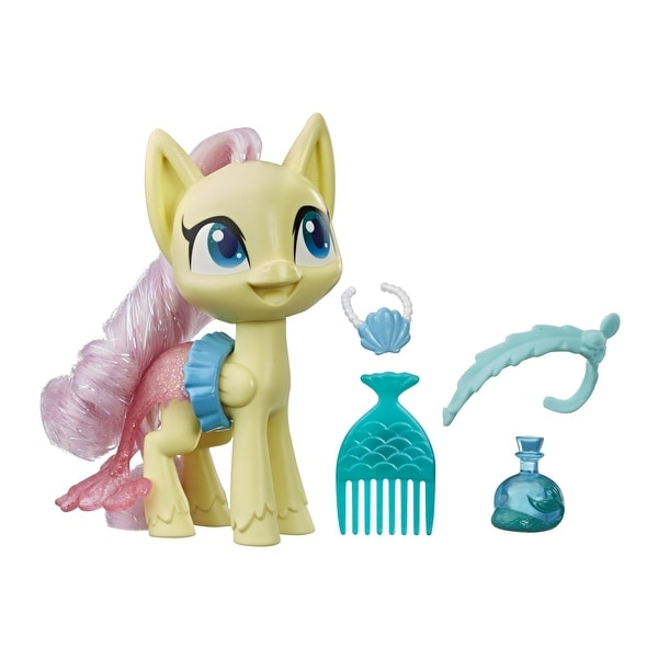 My Little Pony Fluttershy Potion Dress Up Figure -- 5-Inch Yellow Pony Toy With Fashion Accessories, Brushable Hair. Opens flyout.