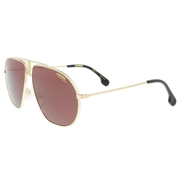 a903cff10 Shop Carrera BOUNDS 0J5G-W6 Gold Aviator Sunglasses - 60-12-145 ...