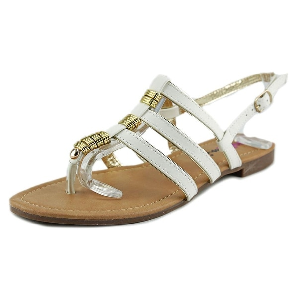 Dollymix Ella-40 Women Open-Toe Synthetic White Slingback Sandal