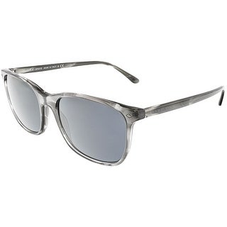 Giorgio Armani Men's AR8089-5565R5-56 Grey Rectangle Sunglasses